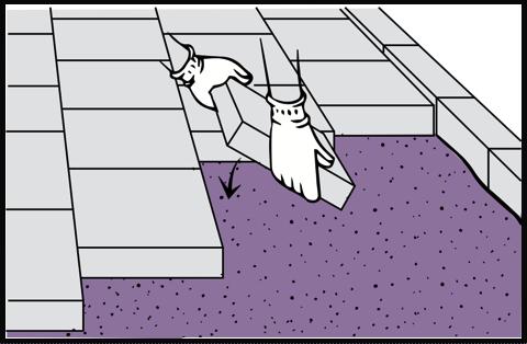 Montarea pavajului