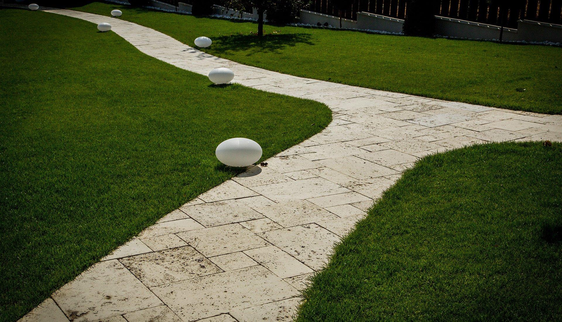 Dale de pavaj modulare cu textură travertin cross cut - Arvore